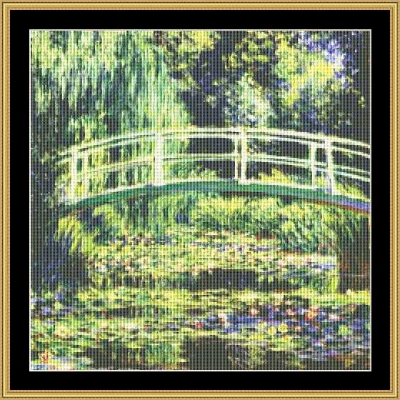 click here to view larger image of  White Water Lilies -Monet (chart)