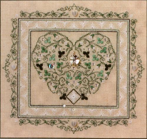 click here to view larger image of Sparkling Shamrocks (counted cross stitch kit)