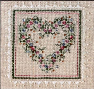 click here to view larger image of Potpourri Heart (chart with charms/buttons)