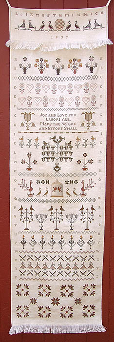 click here to view larger image of Elizabeth Minnich's DecoratedTowel (chart)
