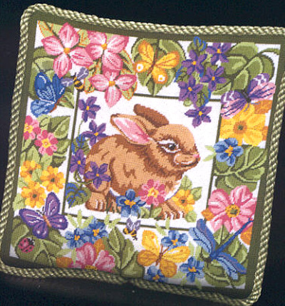 click here to view larger image of Bunny & Blooms (needlepoint)