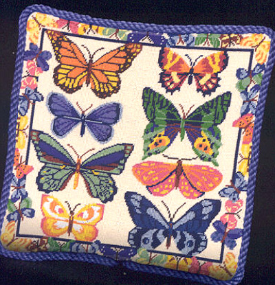 click here to view larger image of Butterflies Galore (needlepoint)