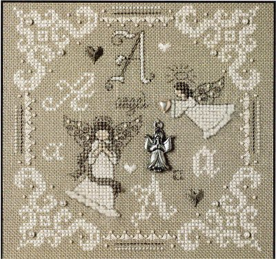 click here to view larger image of A Is For Angel (kit) (counted cross stitch kit)