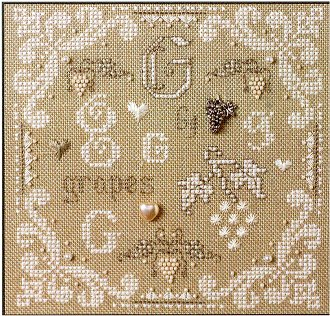 click here to view larger image of G Is For Grapes (kit) (counted cross stitch kit)