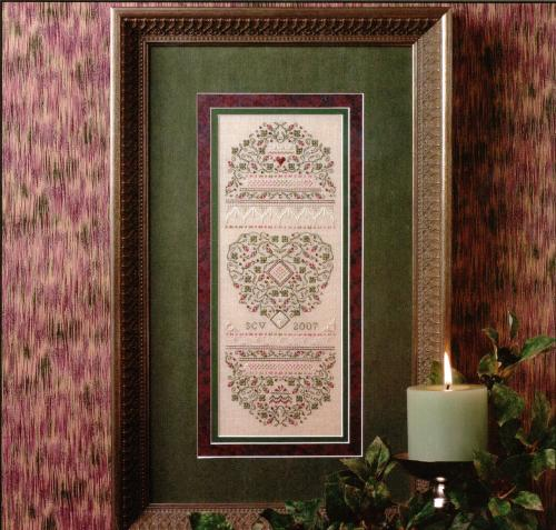 click here to view larger image of Classical Roses  Sampler (Limited Edition Kit) (counted cross stitch kit)