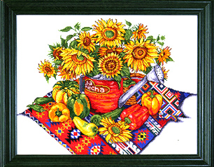 click here to view larger image of Southwest Floral (counted cross stitch kit)