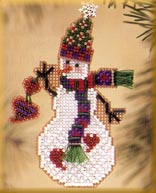 click here to view larger image of Folk Heart Snow Charmer (2003) (counted cross stitch kit)