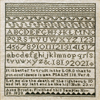 click here to view larger image of Anne Bronte Sampler (chart)
