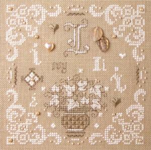 click here to view larger image of I is for Ivy (counted cross stitch kit)
