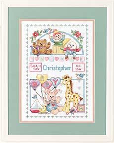 click here to view larger image of Birth Record for Baby (counted cross stitch kit)