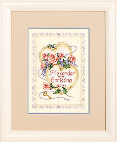 click here to view larger image of United Hearts Wedding Record (counted cross stitch kit)