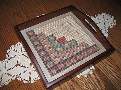 click here to view larger image of Fall Log Cabin Quilt Square (chart)