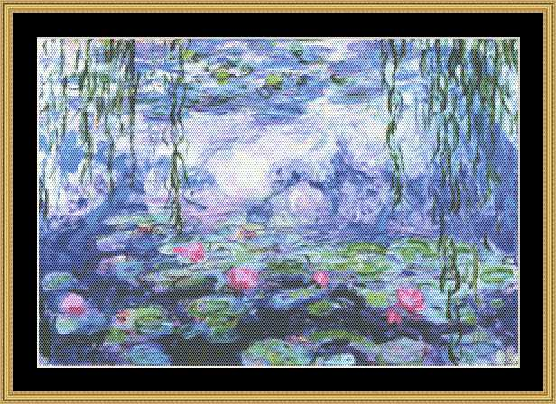 click here to view larger image of Water Lilies V - Great Masters Collection (chart)