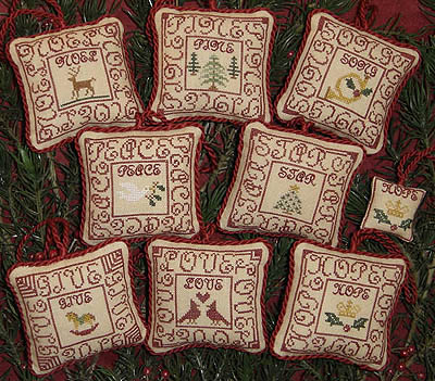 click here to view larger image of Red Letter Ornaments (chart)