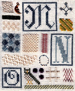 click here to view larger image of Sampler of Stitches - Part Five- MNO (chart)