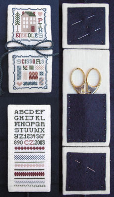 click here to view larger image of Box of Stitches - Needle & Scissors Case (counted cross stitch kit)
