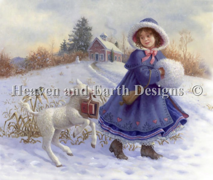 click here to view larger image of Mary and Her Little Lamb (chart)