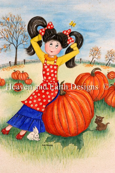 click here to view larger image of The Pumpkin Patch - Quick Stitch (chart)