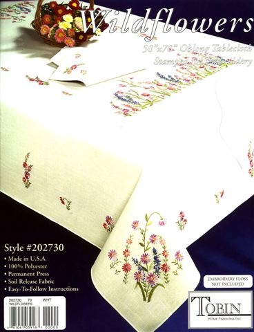 click here to view larger image of Wildflowers Tablecloth 50x70 Oblong (printed linen)