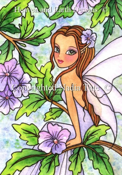 click here to view larger image of Lavender Breeze Fae - Quick Stitch (chart)