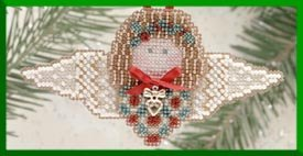 click here to view larger image of Holly Angel (2000) - Ornament (counted cross stitch kit)