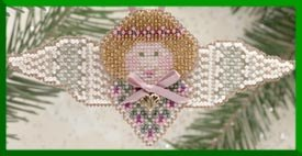 click here to view larger image of Rosebud Angel (2000) - Ornament (counted cross stitch kit)