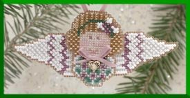 click here to view larger image of Violet Angel (2000) - Ornament (counted cross stitch kit)