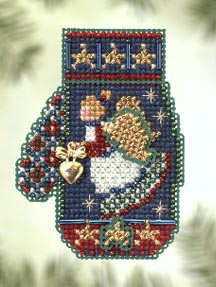 click here to view larger image of Angel Heart (2005) - Mitten Ornament (counted cross stitch kit)