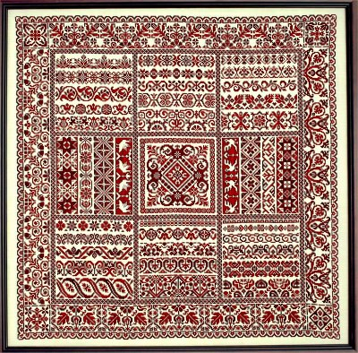 click here to view larger image of Rhapsody In Red Ribbon Sampler (chart)