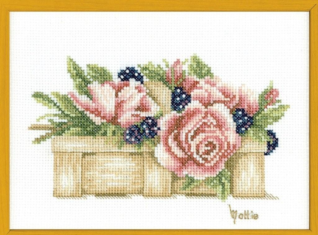 click here to view larger image of Basket Full of  Roses, The - 14ct  (counted cross stitch kit)