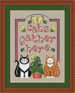 click here to view larger image of Cats Gather Here (chart)