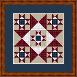 click here to view larger image of Patriot Star - Mini Quilt Square (chart)