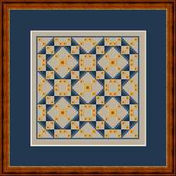 click here to view larger image of Jacob's Ladder Variation I - Mini Quilt Square (chart)