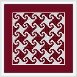 click here to view larger image of Monkey Wrench - Mini Quilt Square (chart)