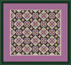 click here to view larger image of Path of Violets - Mini Quilt Square (chart)