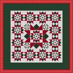 click here to view larger image of Christmas Star - Mini Quilt Square (chart)