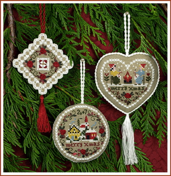 click here to view larger image of Beautiful Finishing 2 - Merry Christmas Ornaments/Fobs (chart)