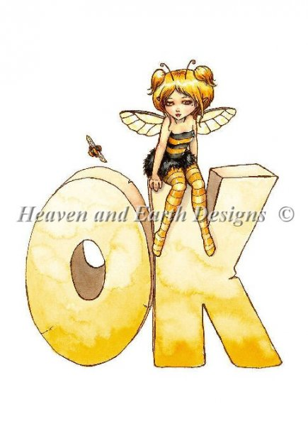click here to view larger image of Little Bee OK - Quick Stitch (chart)