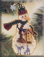 click here to view larger image of Birdhouse Snow Charmer (2001) (counted cross stitch kit)