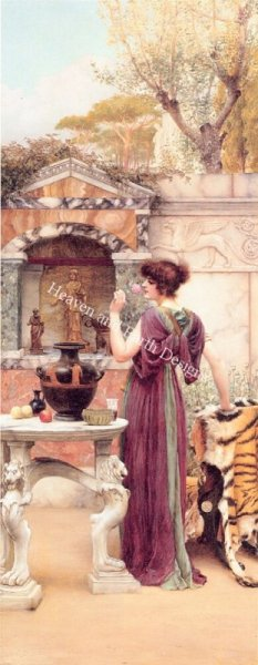 click here to view larger image of At The Garden Shrine - Godward (chart)