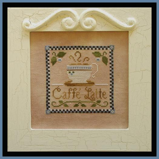 click here to view larger image of Caffe Latte  (with Silks) (counted cross stitch kit)