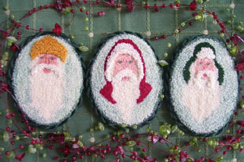 click here to view larger image of Old World Santas (punchneedle) (Punchneedle)