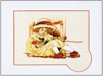 click here to view larger image of Little Dreamer (counted cross stitch kit)
