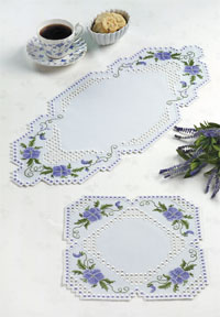 click here to view larger image of Hardanger Floral Tablerunner (Hardanger and Cut Work)