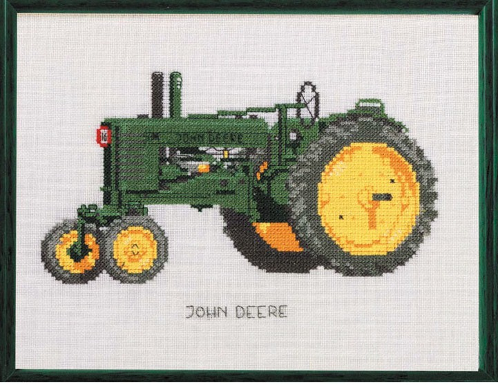 click here to view larger image of Tractor - John Deere (counted cross stitch kit)