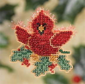 click here to view larger image of Christmas Cardinal (2007) (counted cross stitch kit)