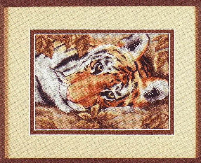 click here to view larger image of Beguiling Tiger (counted cross stitch kit)