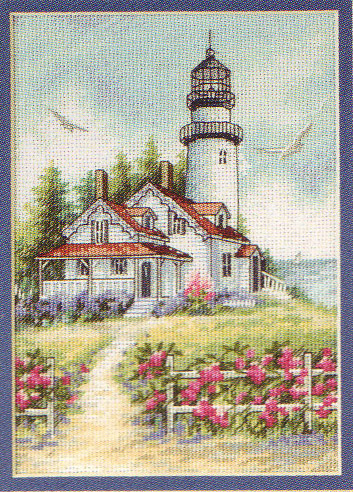 click here to view larger image of Scenic Lighthouse (counted cross stitch kit)