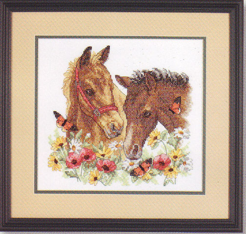 click here to view larger image of Horse Friends (stamped cross stitch kit)