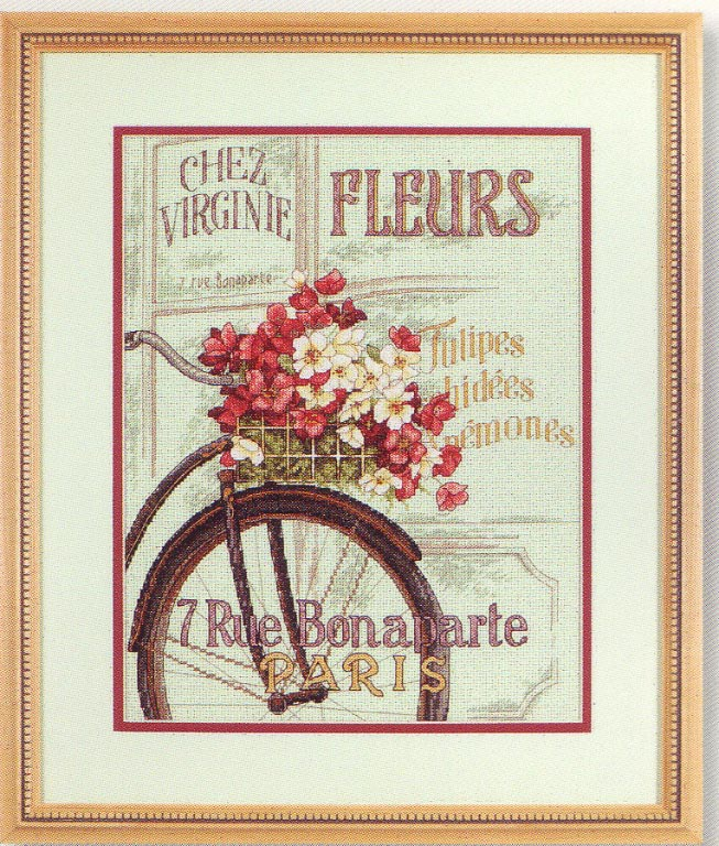 click here to view larger image of Parisian Bicycle (counted cross stitch kit)